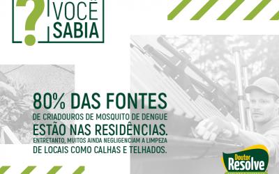 Descubra se a sua casa tem focos de criadouros do mosquito da dengue