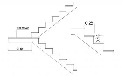 Como medir os degraus de uma escada
